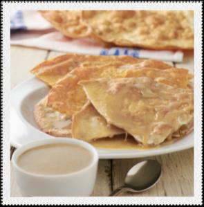 Buñuelos con miel de guayaba