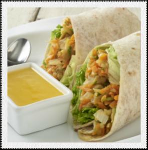 Wrap de verdura con Salsa de Piña