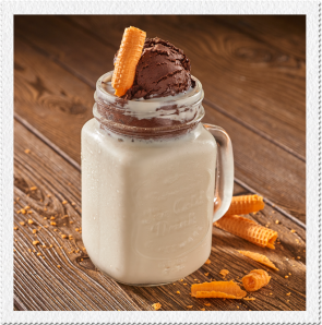 Choco flotante con Zuko sabor Coco y helado de chocolate