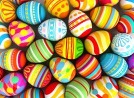 La tradición de los huevos de pascua.