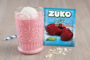 Malteada de frambuesa y yogurt