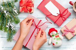 Envolturas creativas para tus regalos.